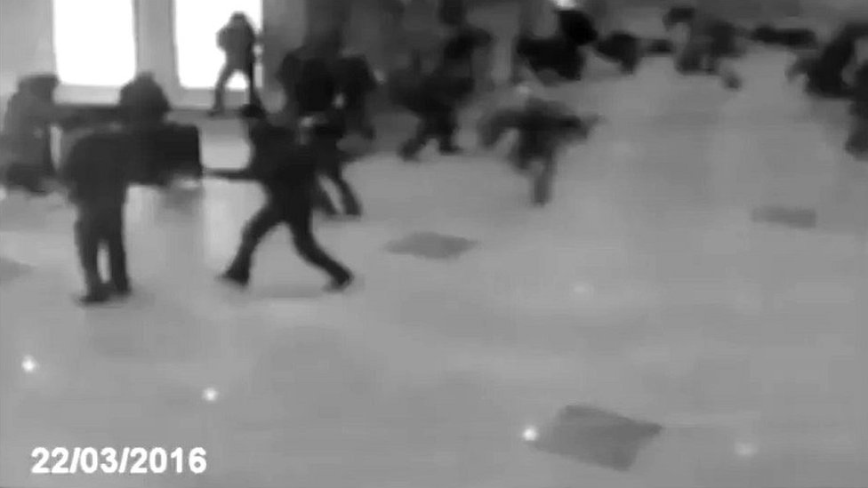 Scene of explosion on Minsk Metro in 2011