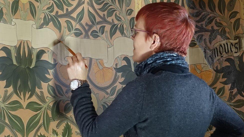 David Parr: Artist's 'awe' at 1880s artisan decorated house