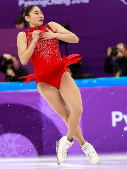 Nagasu es la primera estadounidense en hacer esta pirueta en unas olimpiadas.