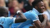 Raheem Sterling celebrates his goal for Man City