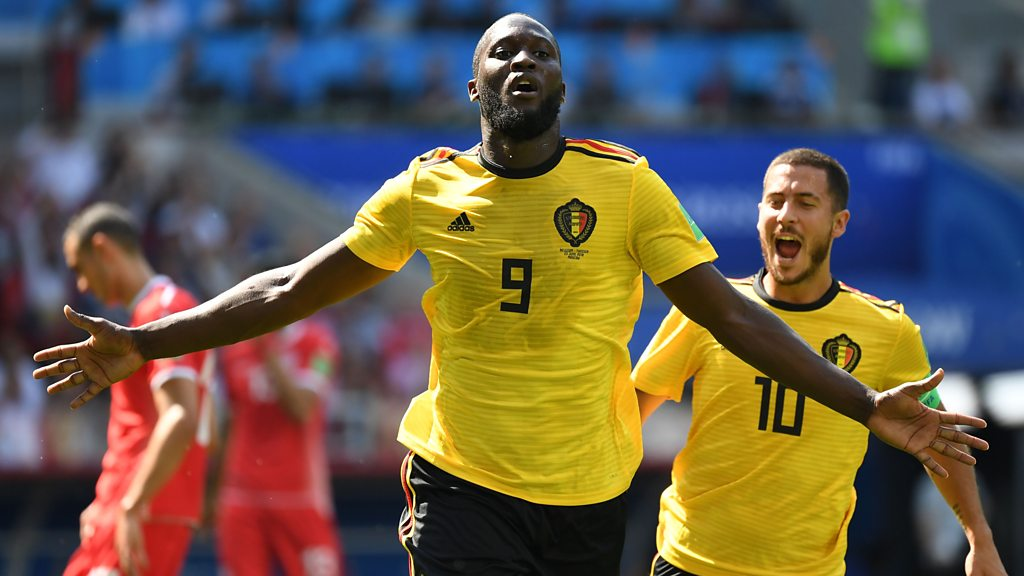 World Cup 2018: Romelu Lukaku scores Belgium's second against Tunisia