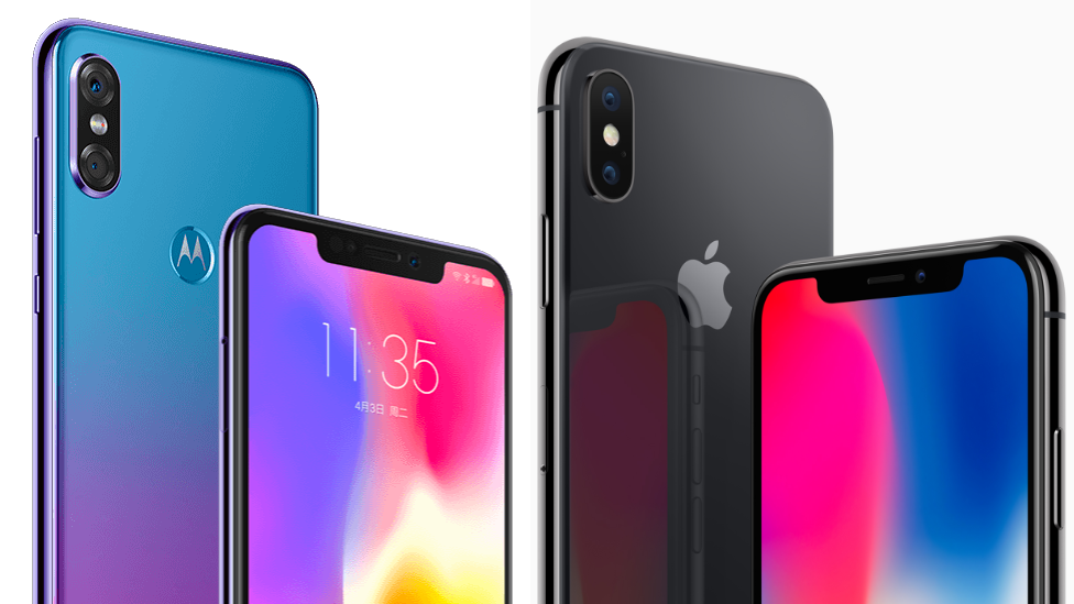 Motorola phone 'brazen copy' of iPhone X