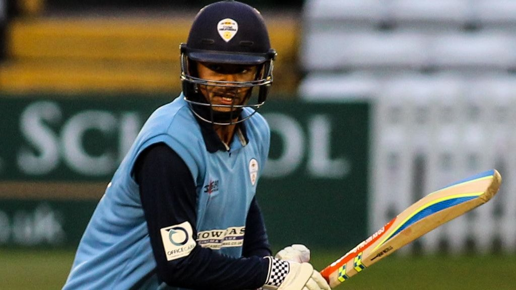 One-Day Cup: Shiv Thakor Hundred Sets Up Derbyshire Win over Northants