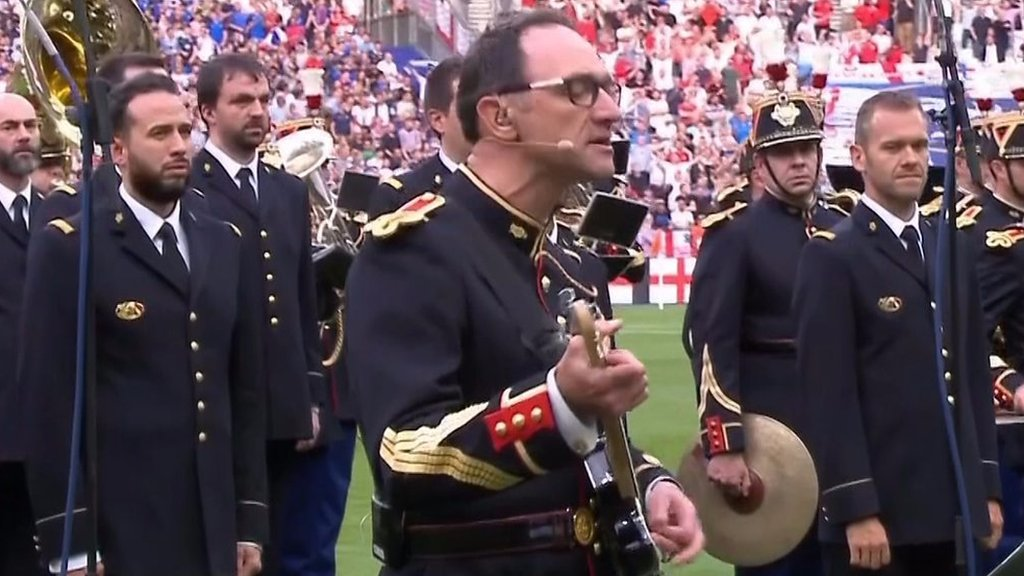 France v England: Pre-match tribute to attack victims