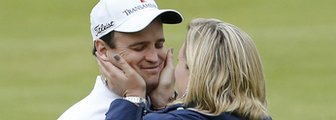 Zach Johnson and wife Kim Barclay
