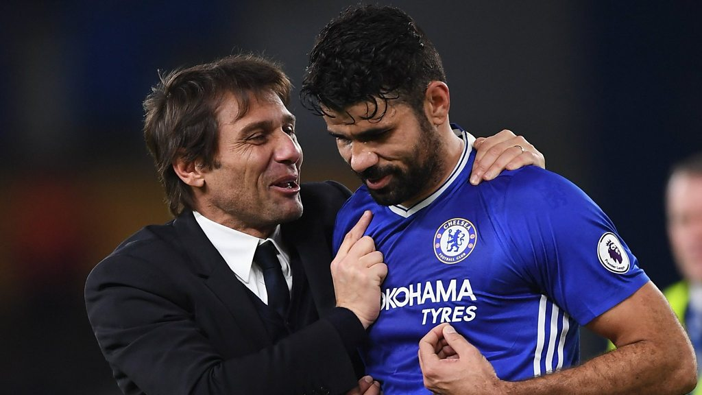 Antonio Conte says Chelsea's Diego Costa is happy and available for selection