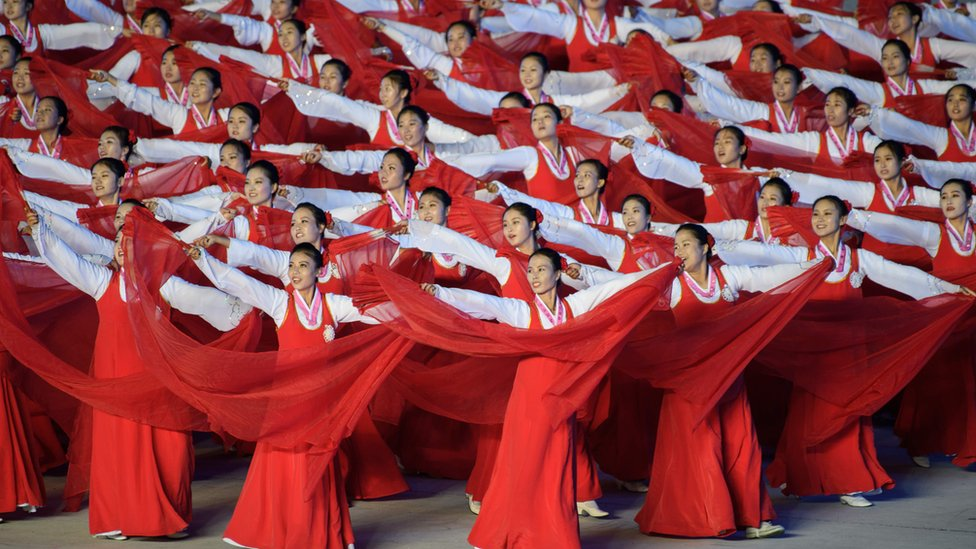 In Pictures: South Korea's Moon Jae-in attends Pyongyang Mass Games