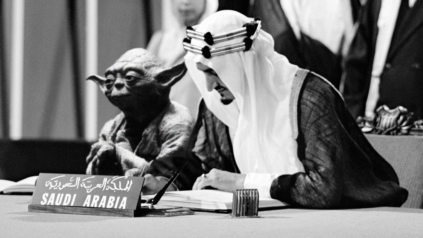 Saudi textbook features image of Yoda with King Faisal