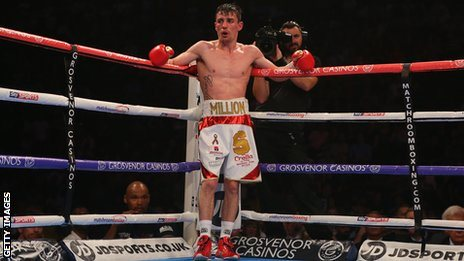 Anthony Crolla during his first fight against Darleys Perez