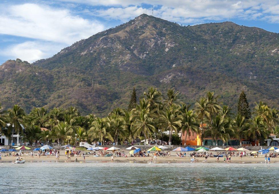 Playa de Colima.