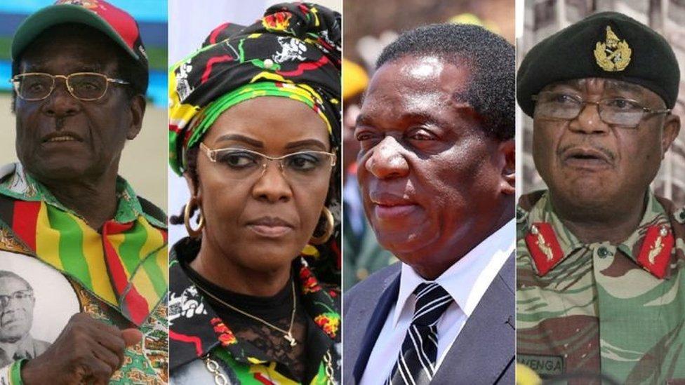 اللاعبون الرئيسيون في الأزمة في زيمبابوي