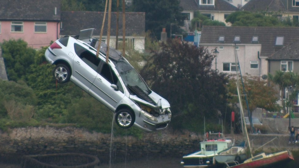 Two people dead after Hooe Lake car plunge