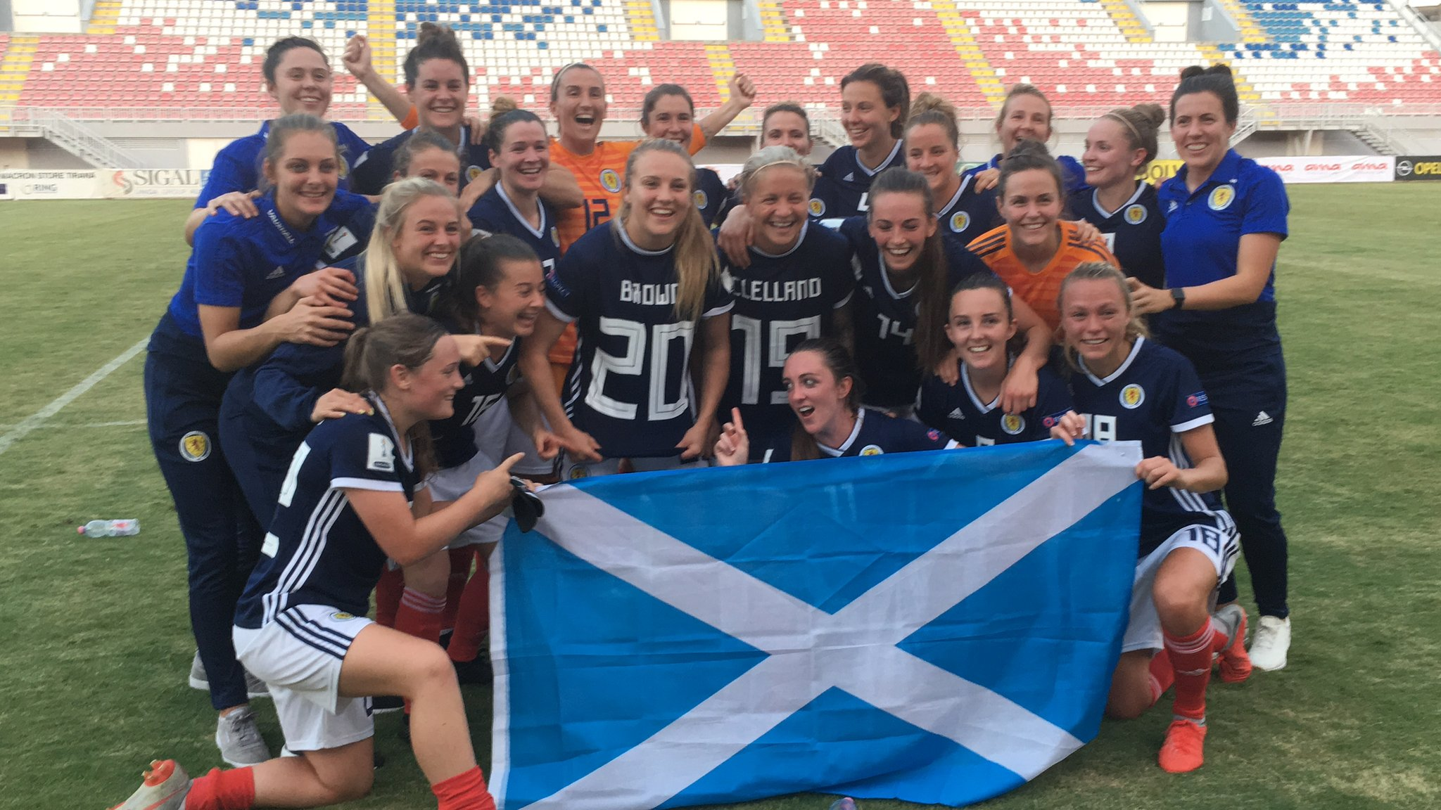 Scotland Women qualify for World Cup for the first time