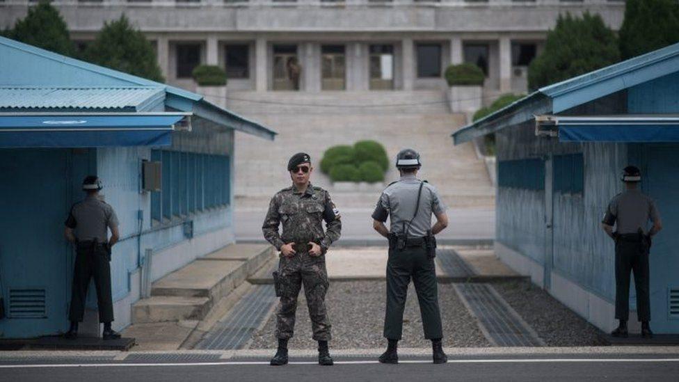 الحدود بين كوريا الشمالية والجنوبية