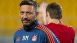 Aberdeen manager Derek McInnes in Kazakhstan