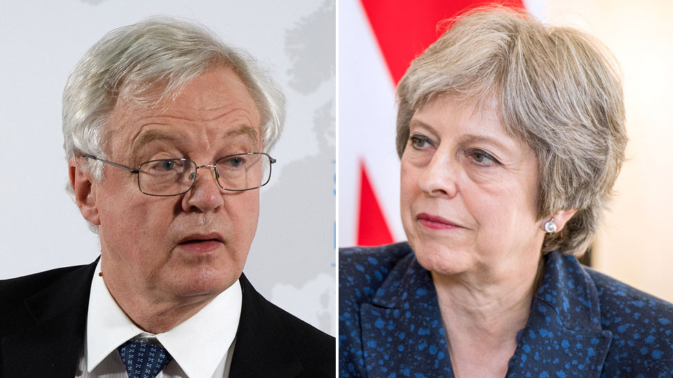 Brexit: May and Davis 'agree customs backstop wording'
