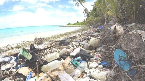Plastic pollution: Flip-flop tide engulfs 'paradise' island