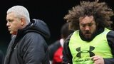 Warren Gatland and Adam Jones