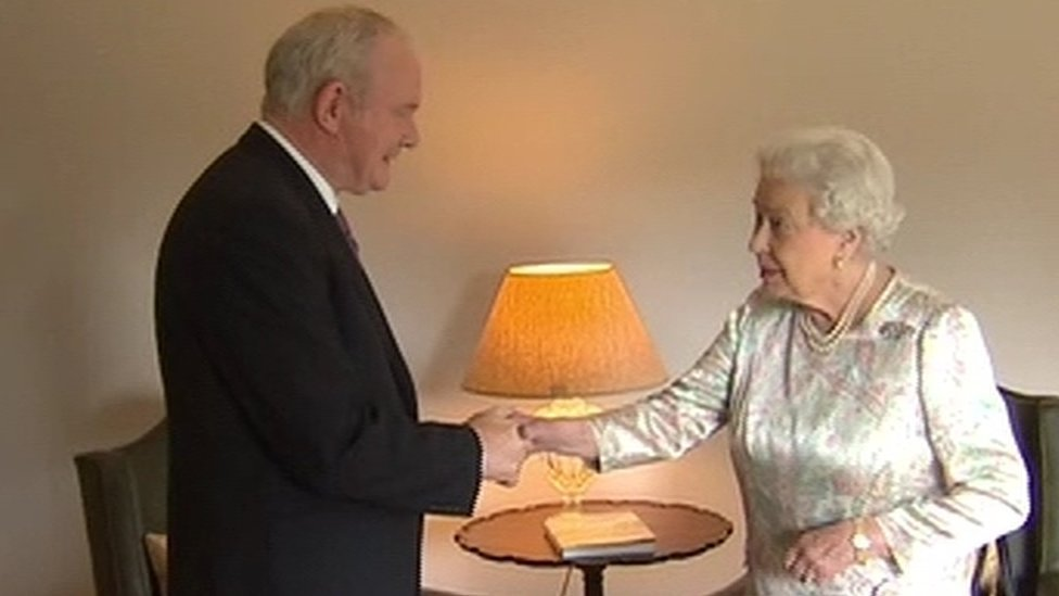 Queen meets NI leaders as she arrives for two-day visit