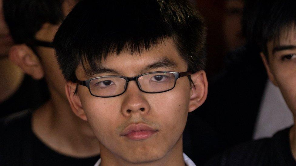 Hong Kong activist Joshua Wong jailed for six months