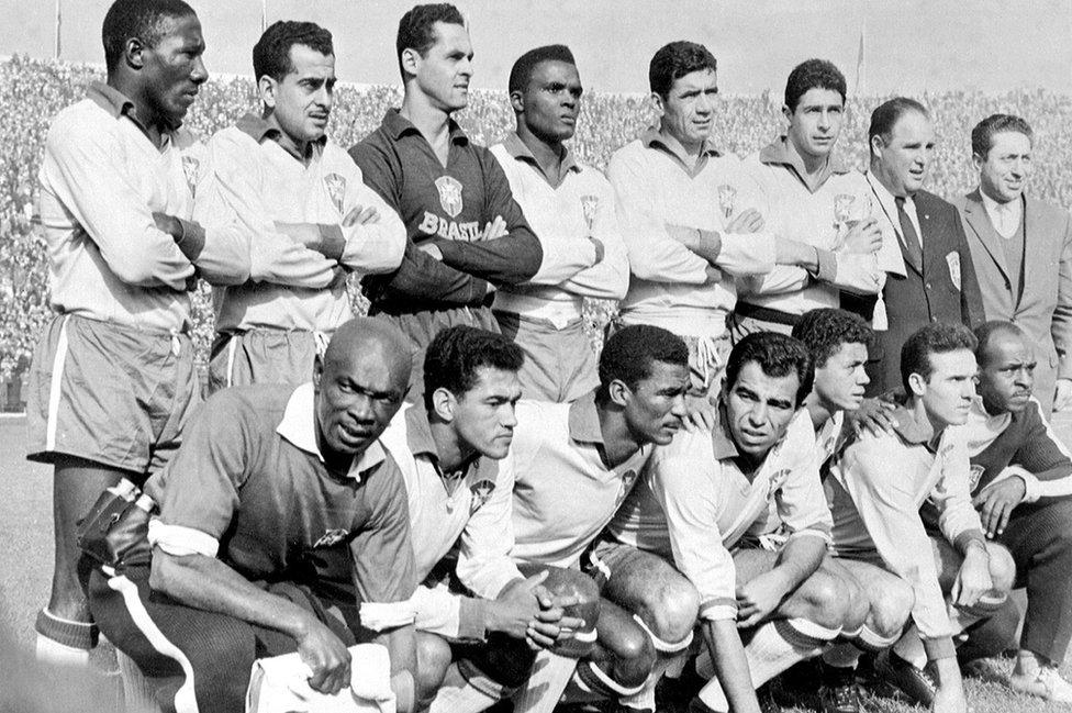 El equipo de Brasil campeón mundial de 1962