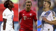 Eniola Aluko, Mario Gotze and Steven Gerrard