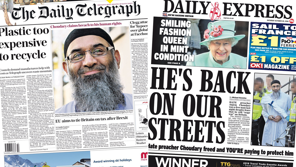 The Papers: Saudi 'hitman' in UK trip and hate preacher's freedom