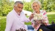 Paul Hollywood and Mary Berry with cakes