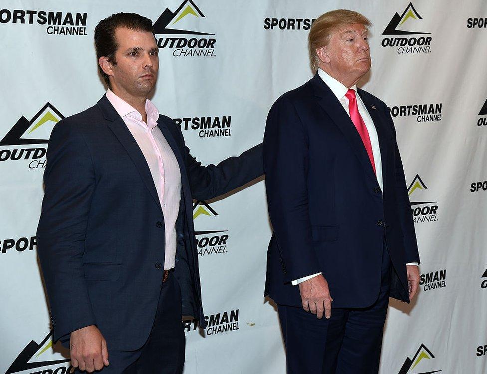 Donald Trump padre e hijo.