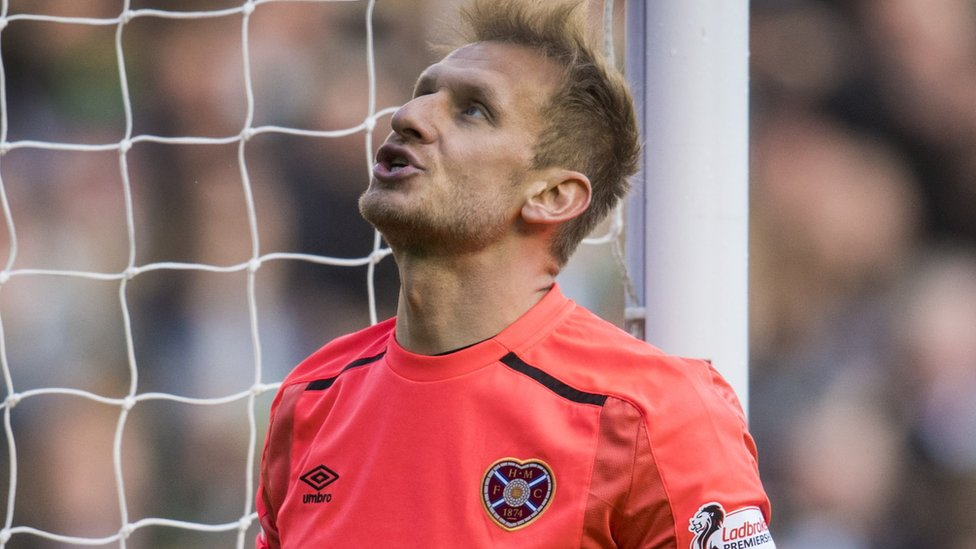 Man in court charged with punching Hearts goalkeeper