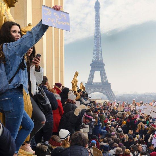 Protesta de Womens March en París