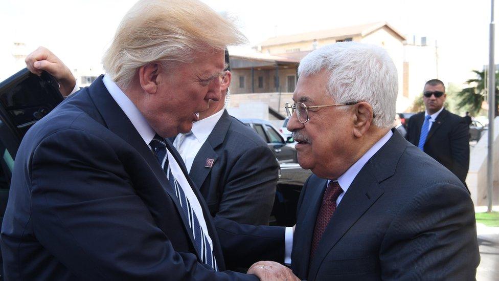 Trump y Abbas