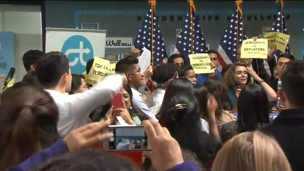 Daca: Nancy Pelosi heckled as 'liar' in Dreamers protest