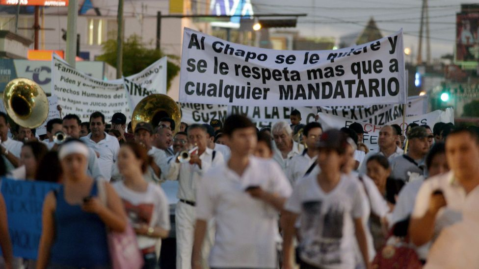 """""""El Chapo"""" tenía el apoyo de miles de personas."""