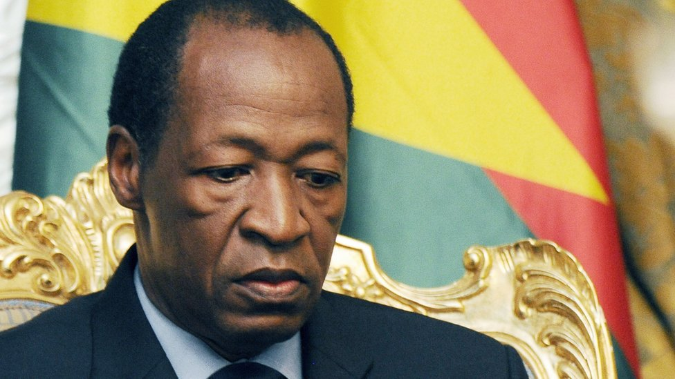 Burkina Faso's former president Blaise Compaore
