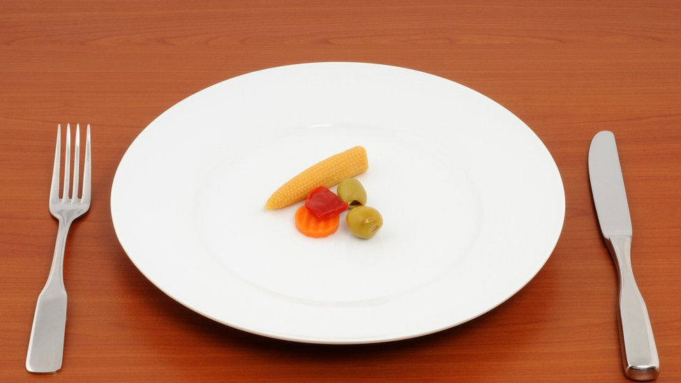 Plato con poca fruta