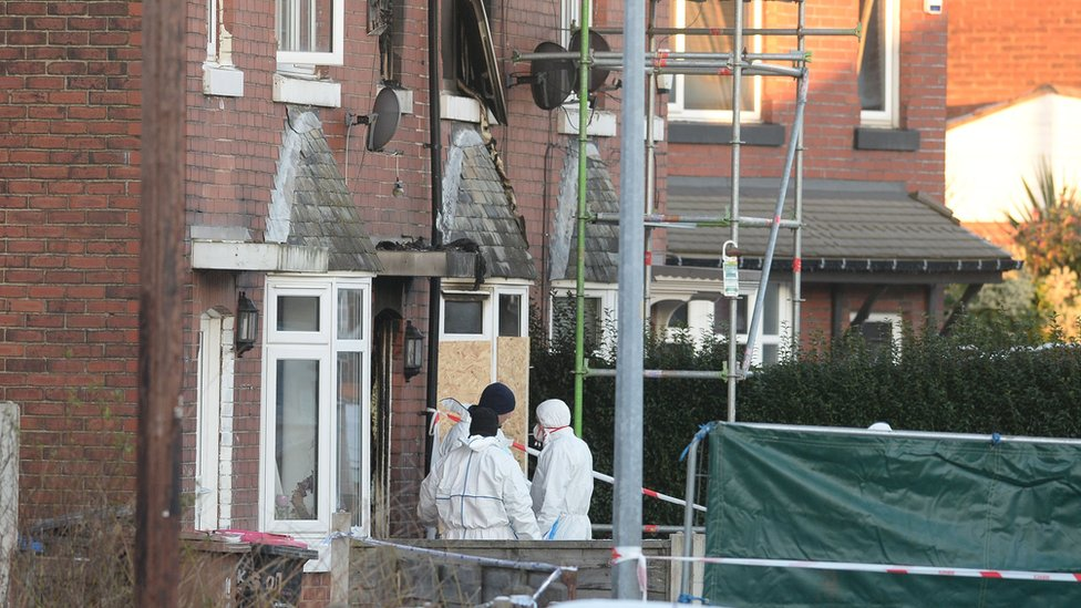 Salford house fire: Murder charges over deaths
