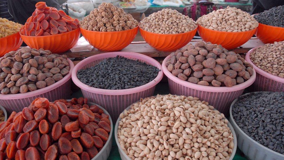 Irán es un gran productor y exportador de frutos secos.