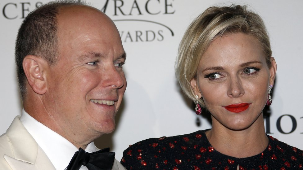 Monaco's Prince Albert and Princess Charlene