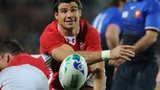 Mike Phillips in action for Wales