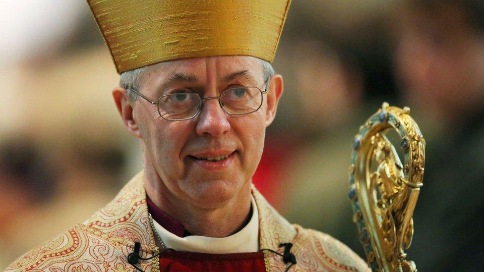El arzobispo de Canterbury, Justin Welby