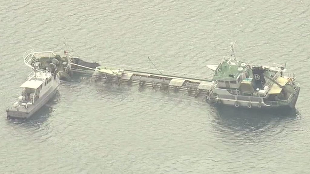 Ship carrying chemicals sinking off Japan coast