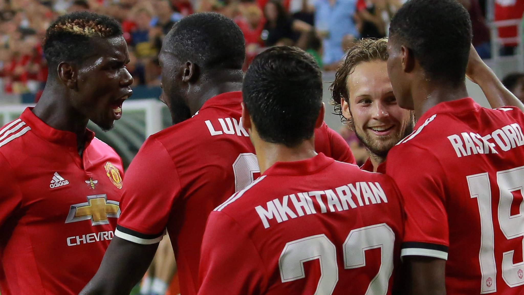 Lukaku & Rashford help Man Utd beat Man City in Houston friendly