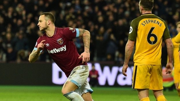 cf5d14bcdb7 Arnautovic scores twice in two minutes to salvage point for West Ham  against Brighton – MNNOFA NEWS