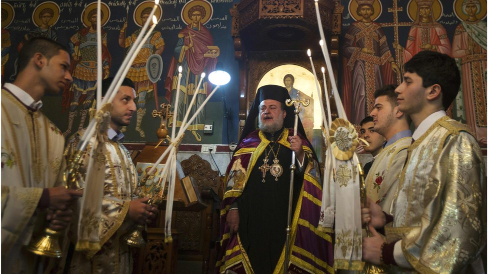 احتفالات المسيحيين الفلسطينيين