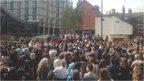 Crowd at Corbyn meeting