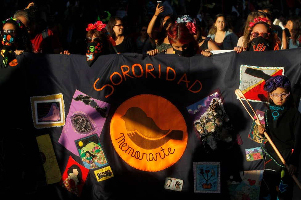 Protesta contra la violencia machista en Santiago de Chile el 8 de marzo de 2017.