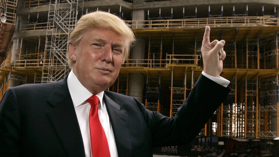 دونالد ترامب رجل أعمال وتاجر عقارات وابن أحد أشهر أقطاب تجارة العقارات الأمريكيين