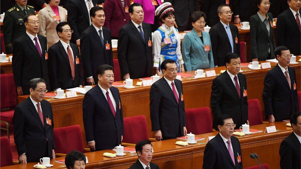 中國領導人出席人大會議