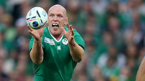 Ireland captain Paul O'Connell was influential at the breakdown against Italy